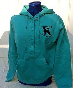 Ladies Button Hoodie
